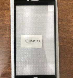 Защитное стекло для IPhone 6,6s чёрного цвета
