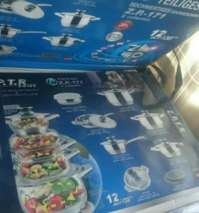 Новый набор посуды из 12 предметов.