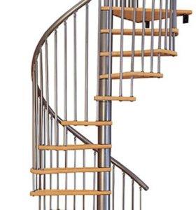 Винтовая лестница MINKA Spir Eff чр, ср, бл 140мм