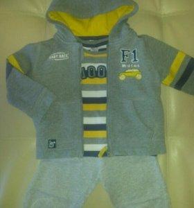 "Кофта штаны футболка ""SELA baby"" 86 р-р"
