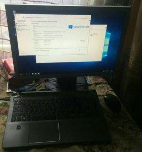Ноутбук+монитор