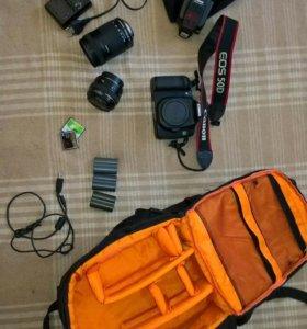 Canon 50d +Canon 50mm 1,4 + Canon 18-135mm +Canon