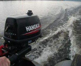 Лодочный мотор ханкай 4 л.с. подвесной новый