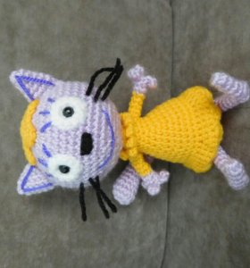 "Кошечка Лапочка игрушка ""Три кота"" (ручная работа)"
