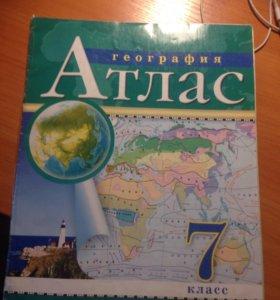 Атлас по географии 7, 8 класс