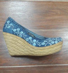 Туфли женские джинсовые Ersax артикул564-13 турция