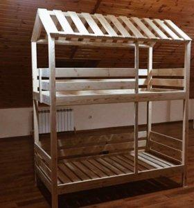Кровать-домик для 2 детей
