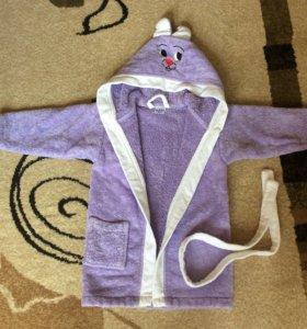 Махровый халат 3-4 года
