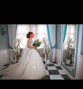 Свадебное платье, фата, подъюбник