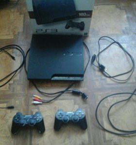 Play Station3 slim (160gb)+10 игр(3 диска)