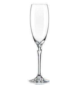 Набор бокалов для шампанского Bohemia Crystal