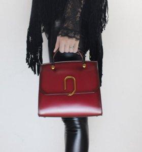 Кожаная женская сумка 25*21*7 см