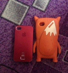 Чехол на 4s и 4 айфон