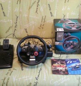 Игровой Руль Logitech Driving Force GT+2 игры