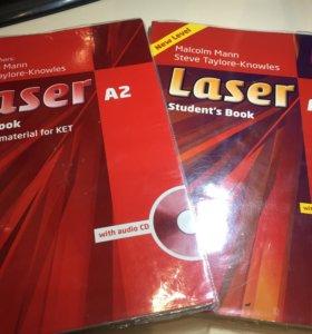 Учебник и рабочая тетрадь Laser A2 по англ.яз