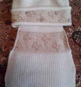 Шапка и шарф шерсть/акрил