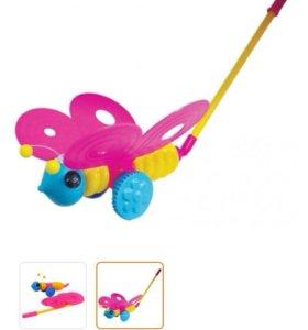 Игрушка бабочка каталка