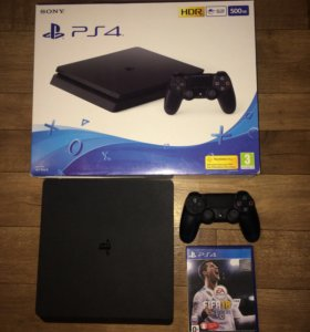 Ps4 slim 500gb Playstation 4 FIFA18 чек гарантия
