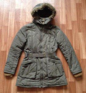 Весеннее женское пальто-парка 42-44