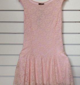 Розовое и коричневое нежные платья