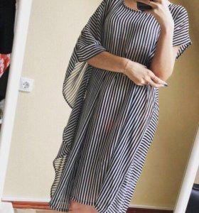 Пляжное платье-туника новое