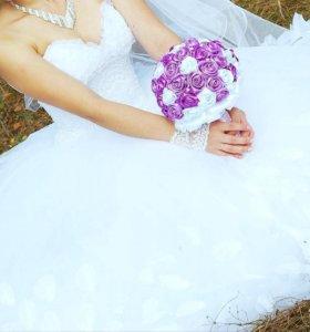 шикарное свадебное платье, подъюбник