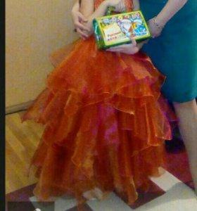 Платье на праздник- выпускной рост 130- 140