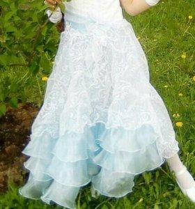 Платье на праздник-выпускной 130- 140