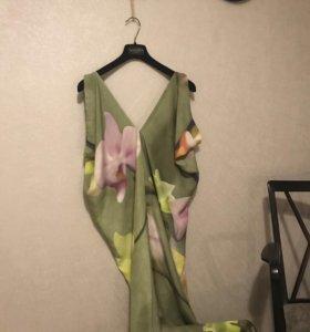 Платье сарафан шёлк в пол оригинал valentino