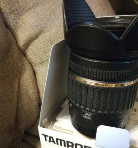 Объектив tamron 17-50mm под canon