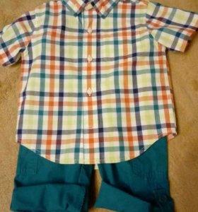 Летний костюм(рубашка+брючки) Gymboree (Америка)