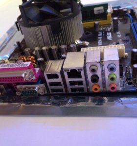 Материнская плата Asus M2N E-SLI с процессором