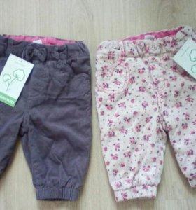 Фирменные штанишки на девочку 68