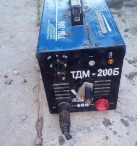 Сварочный трансформатор тдм 200б