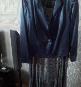 Платье с пиджаком размер 48-50