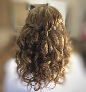 Укладки, плетение кос, прически