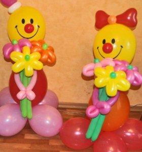 фигура клоуна из шариков