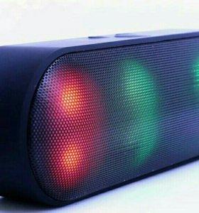 Портативная колонка + радио цветная подсветка