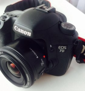 Canon EOS 7D+объектив 35мм
