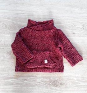 Кофта (свитер) zara 6-9 мес.