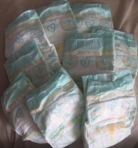 Подгузники «памперс» 2 размер,до 6 кг. 9 шт