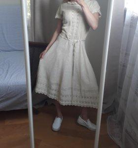 Льняное платье S/M