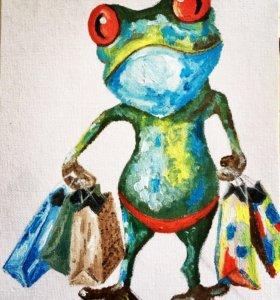 Картина в детскую (холст, масло)