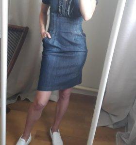 Платье джинсовое S/M