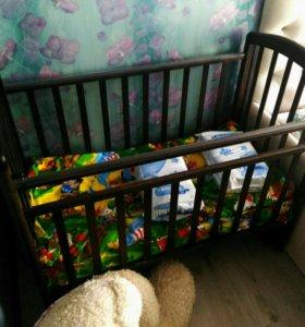 Детская кроватка с орт.матрасом СРОЧНО