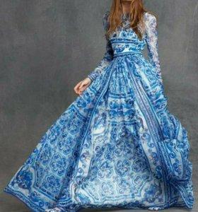 Платье ткань dolce&gabbana