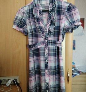 Туника или удлиненная рубашка с пояском 42-44р-р