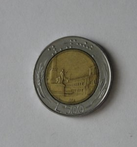 500 лир 1986 г. Италия