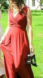 Платье из летящей ткани