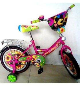 Детский велосипед (Маша и медведь )